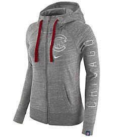 Nike Women's Chicago Cubs Gym Vintage Full Zip Hooded Sweatshirt