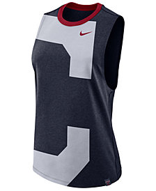 Nike Women's Cleveland Indians Dri-Blend Muscle Mesh Tank