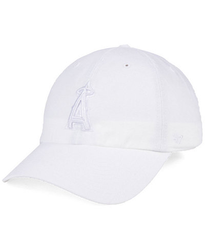 '47 Brand Los Angeles Angels White/White CLEAN UP Cap