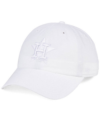 '47 Brand Houston Astros White/White CLEAN UP Cap