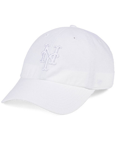 '47 Brand New York Mets White/White CLEAN UP Cap