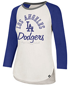'47 Brand Women's Los Angeles Dodgers Vintage Raglan T-Shirt
