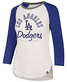 '47 Brand Women's Los Angeles Dodgers Vintage Raglan T-Shirt