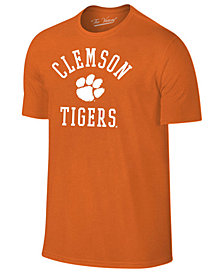Retro Brand Men's Clemson Tigers Arch Logo Dual Blend T-Shirt