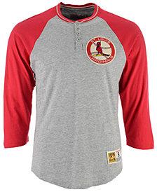 Mitchell & Ness Men's St. Louis Cardinals 4-Button Henley T-Shirt