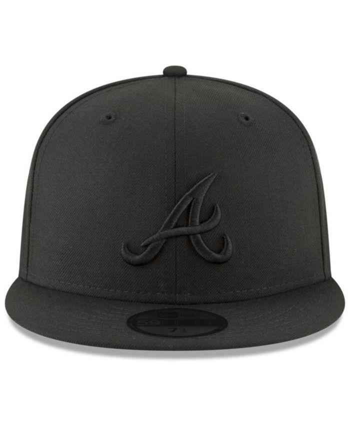 New Era Atlanta Braves Blackout 59FIFTY FITTED Cap & Reviews - Sports Fan Shop By Lids - Men - Macy's