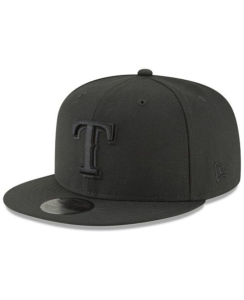 cheap for discount 5e497 0c0c6 ... New Era Texas Rangers Blackout 59FIFTY FITTED Cap ...