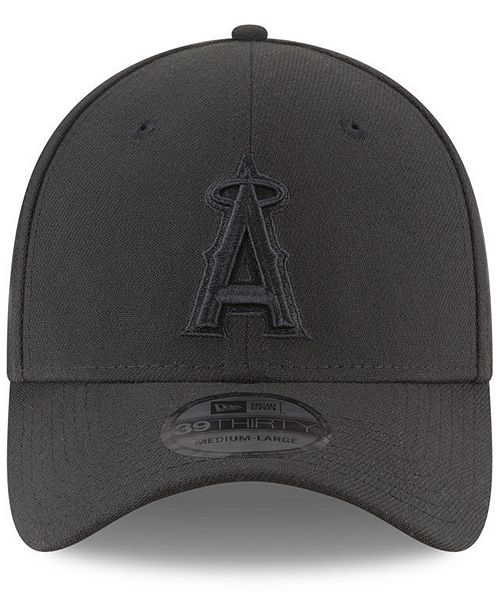 san francisco 4712d 4008b ... australia new era los angeles angels blackout 39thirty cap sports fan  shop by lids men macys