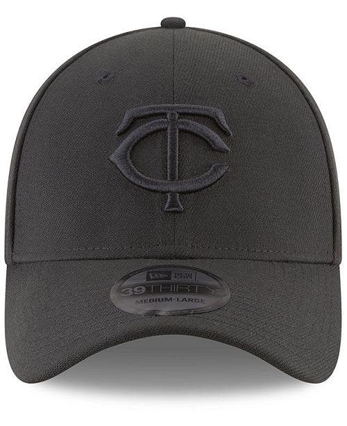 size 40 c98e8 2e0bf ... New Era Minnesota Twins Blackout 39THIRTY Cap ...