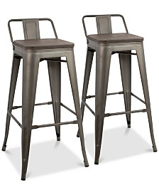 Oregon Bar Stool (Set of 2), Quick Ship