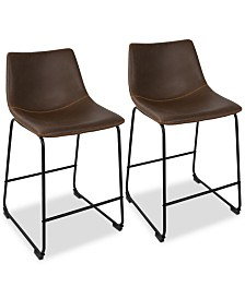 Duke Counter Stool (Set of 2), Quick Ship