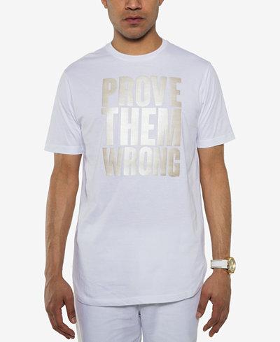 Sean John Men's Prove Them Wrong Metallic-Print T-Shirt, Created for Macy's