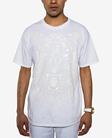 Sean John Men's White Party Tiger Roar Embossed T-Shirt, Created for Macy's