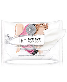 IT Cosmetics Bye Bye Makeup 3-in-1 Hydrating, Anti-Aging, Makeup Removing Micellar Wipes, 25-Pk.