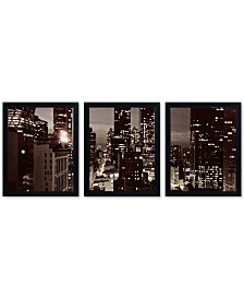 "Ariane Moshayedi 'NYC After Dark' Framed Multi-Panel Wall Art Set , 16"" x 20"""