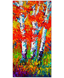 "Marion Rose Red Autumn 12"" x 24"" Canvas Art Print"