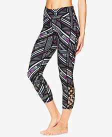 Gaiam Shilo Printed Strappy Capri Leggings
