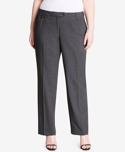 Calvin Klein Plus Size Straight-Leg Pants