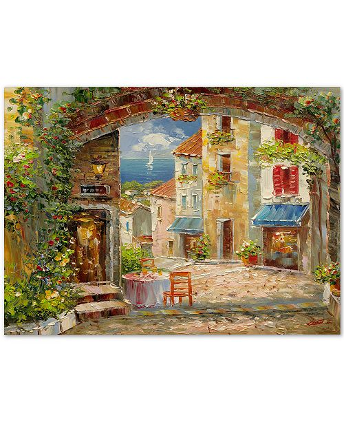 "Trademark Global Rio 'Capri Isle' Canvas Art - 47"" x 35"""