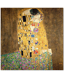 Gustav Klimt 'The Kiss 1907-8' Canvas Wall Art