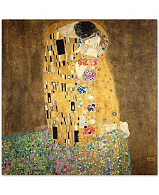 "Gustav Klimt 'The Kiss 1907-8' Canvas Art - 35"" x 35"""