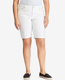 Lauren Ralph Lauren Plus Size Slimming Cuffed Shorts