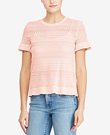 Lauren Ralph Lauren Petite Knit Short-Sleeve Sweater