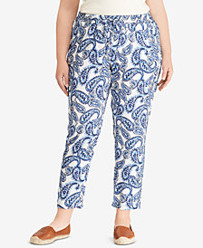 Lauren Ralph Lauren Plus Size Soft Ankle Pants, Created for Macy's