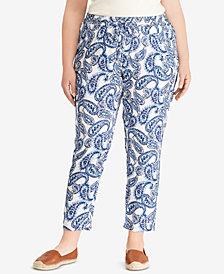 Lauren Ralph Lauren Plus Size Soft Ankle Pants, Created for Macy's