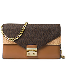 MICHAEL Michael Kors Medium Signature Envelope Wallet On a Chain