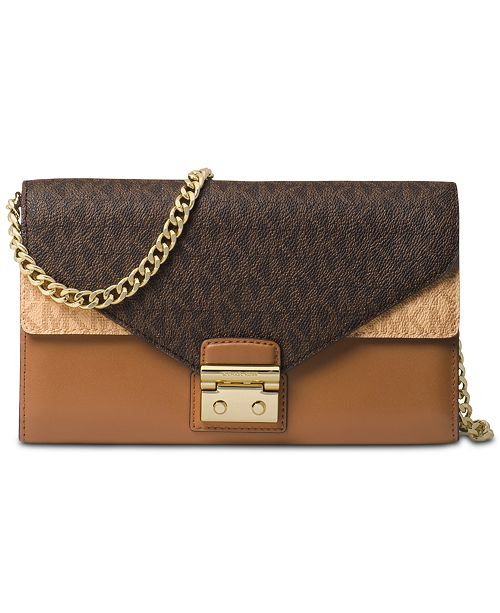 f9fe7050f863 Michael Kors Medium Signature Envelope Wallet On a Chain & Reviews ...