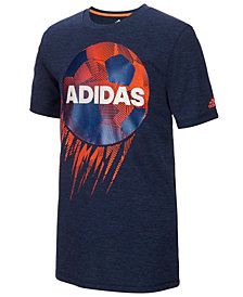 adidas Basketball-Print T-Shirt, Big Boys