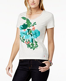 Tommy Hilfiger Cotton Floral-Print T-Shirt, Created for Macy's