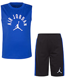Jordan Little Boys 2-Pc. Air Jordan-Print Tank & Shorts Set