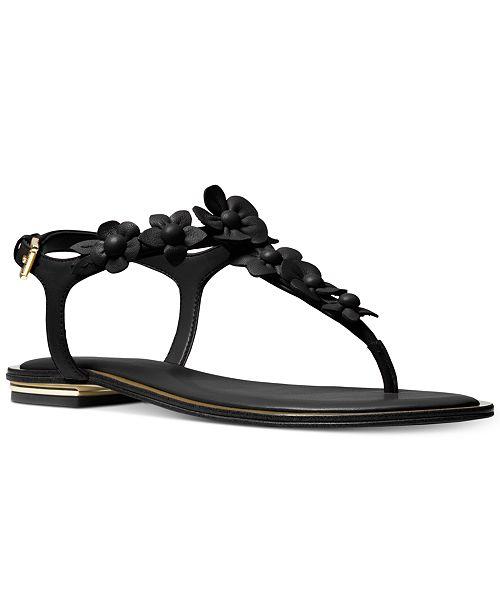 6d448a8ad701 Michael Kors Women s Tricia Flat Thong Sandals   Reviews - Sandals ...