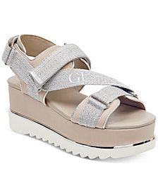 GUESS Women's Laureta Flatform Logo Sport Sandals