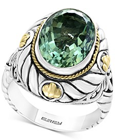 Balissima by EFFY® Green Quartz Statement Ring (5-9/10 ct. t.w.) in Sterling Silver & 18k Gold
