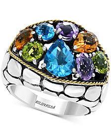 Balissima by EFFY® Multi-Gemstone Ring (6-1/8 ct. t.w.) in Sterling Silver & 18k Gold