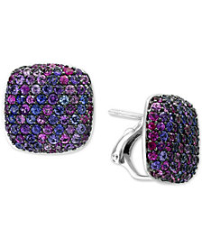 Splash by EFFY® Purple Sapphire Stud Earrings (3-5/8 ct. t.w.) in Sterling Silver
