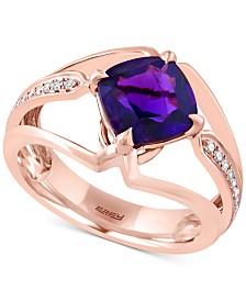 EFFY® Amethyst (1-3/4 ct. t.w.) & Diamond Accent Ring in 14k Rose Gold