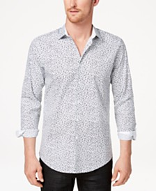 I.N.C. Men's Floral Micro Print Shirt, Created for Macy's