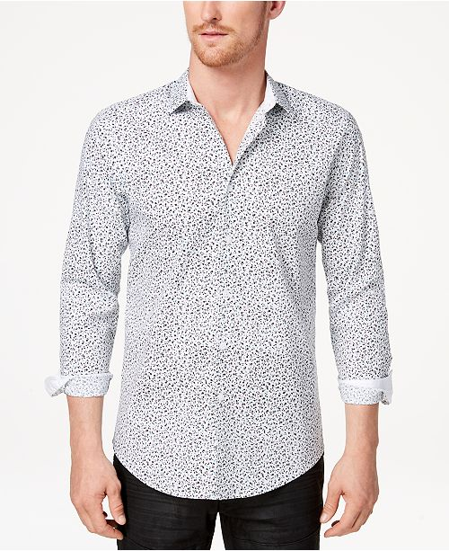 INC International Concepts INC Men's Floral Micro Print Shirt, Created for Macy's