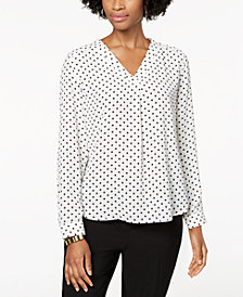 Nine West Dot-Print Top