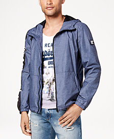 Superdry Men's Nue Wave Full-Zip Hooded Windbreaker