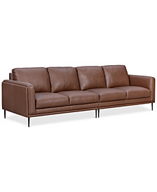 Maida 2-Pc. Leather Sectional Sofa