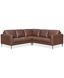 CLOSEOUT! Maida 3-Pc. Leather Sectional with Loveseats