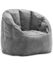 Big Joe Large Milano Blazer Bean Bag Chair, Quick Ship
