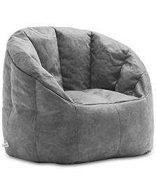 Big Joe Large Milano Blazer Bean Bag Chair, Quick Ship