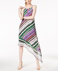 Bar III Asymmetrical-Hem Halter Maxi Dress, Created for Macy's