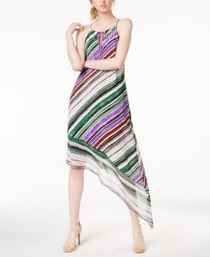 Bar Iii Asymmetrical-Hem Halter Maxi Dress, Created for Macy's
